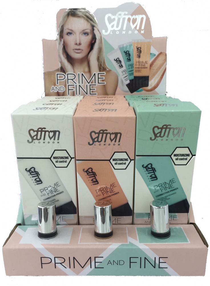 Saffron Prime And Fine Face Primer 1x12